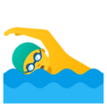 Man Swimming on Google Android 11.0