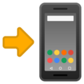 Mobile Phone with Arrow on Google Android 11.0