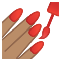 Nail Polish: Medium Skin Tone on Google Android 11.0