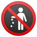 No Littering on Google Android 11.0