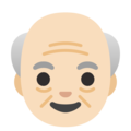 Old Man: Light Skin Tone on Google Android 11.0