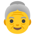 Old Woman on Google Android 11.0
