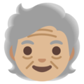 Older Person: Medium-Light Skin Tone on Google Android 11.0