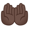 Palms Up Together: Dark Skin Tone on Google Android 11.0