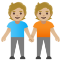 People Holding Hands: Medium-Light Skin Tone on Google Android 11.0