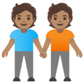 People Holding Hands: Medium Skin Tone on Google Android 11.0