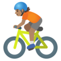 Person Biking: Medium Skin Tone on Google Android 11.0