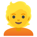 Person: Blond Hair on Google Android 11.0