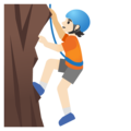 Person Climbing: Light Skin Tone on Google Android 11.0