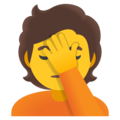 Person Facepalming on Google Android 11.0