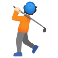 Person Golfing: Light Skin Tone on Google Android 11.0