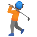 Person Golfing: Medium Skin Tone on Google Android 11.0