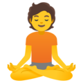 Person in Lotus Position on Google Android 11.0