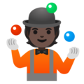 Person Juggling: Dark Skin Tone on Google Android 11.0