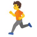 Person Running on Google Android 11.0