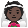 Person With Veil: Dark Skin Tone on Google Android 11.0