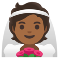 Person With Veil: Medium-Dark Skin Tone on Google Android 11.0