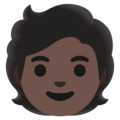 Person: Dark Skin Tone on Google Android 11.0