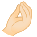 Pinched Fingers: Light Skin Tone on Google Android 11.0