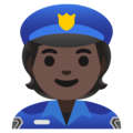 Police Officer: Dark Skin Tone on Google Android 11.0
