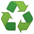 Recycling Symbol on Google Android 11.0