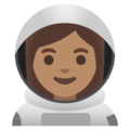 Woman Astronaut: Medium Skin Tone on Google Android 11.0