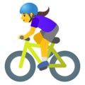 Woman Biking on Google Android 11.0