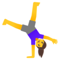 Woman Cartwheeling on Google Android 11.0