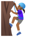Woman Climbing: Medium-Dark Skin Tone on Google Android 11.0
