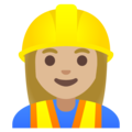 Woman Construction Worker: Medium-Light Skin Tone on Google Android 11.0