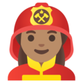 Woman Firefighter: Medium Skin Tone on Google Android 11.0