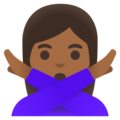 Woman Gesturing No: Medium-Dark Skin Tone on Google Android 11.0