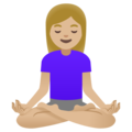 Woman in Lotus Position: Medium-Light Skin Tone on Google Android 11.0