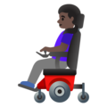 Woman in Motorized Wheelchair: Dark Skin Tone on Google Android 11.0