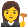 Woman Judge on Google Android 11.0