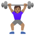 Woman Lifting Weights: Medium Skin Tone on Google Android 11.0