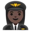Woman Pilot: Dark Skin Tone on Google Android 11.0