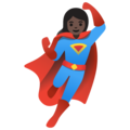 Woman Superhero: Dark Skin Tone on Google Android 11.0