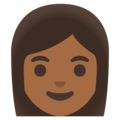 Woman: Medium-Dark Skin Tone on Google Android 11.0