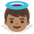 Baby Angel: Medium Skin Tone on Google Android 11.0 December 2020 Feature Drop