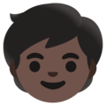 Child: Dark Skin Tone on Google Android 11.0 December 2020 Feature Drop