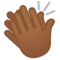 Clapping Hands: Medium-Dark Skin Tone on Google Android 11.0 December 2020 Feature Drop