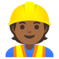 Construction Worker: Medium-Dark Skin Tone on Google Android 11.0 December 2020 Feature Drop