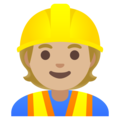 Construction Worker: Medium-Light Skin Tone on Google Android 11.0 December 2020 Feature Drop
