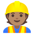Construction Worker: Medium Skin Tone on Google Android 11.0 December 2020 Feature Drop