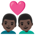 Couple with Heart: Man, Man, Dark Skin Tone on Google Android 11.0 December 2020 Feature Drop