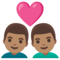 Couple with Heart: Man, Man, Medium Skin Tone on Google Android 11.0 December 2020 Feature Drop