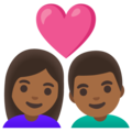 Couple with Heart: Woman, Man, Medium-Dark Skin Tone on Google Android 11.0 December 2020 Feature Drop