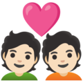 Couple with Heart: Light Skin Tone on Google Android 11.0 December 2020 Feature Drop