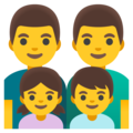 Family: Man, Man, Girl, Boy on Google Android 11.0 December 2020 Feature Drop